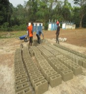 moulding of foundation blocks